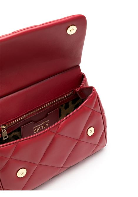 red calf matellasè leather quilted Miss Sicily tote bag  DOLCE & GABBANA |  | BB6002-AW5918H383