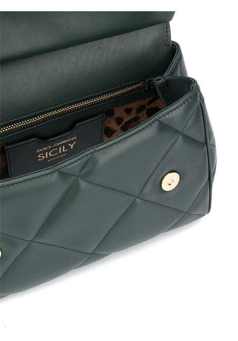 Borsa tote Miss Sicily trapuntata in pelle di vitello verde scuro DOLCE & GABBANA | Borse a mano | BB6002-AW5918H585