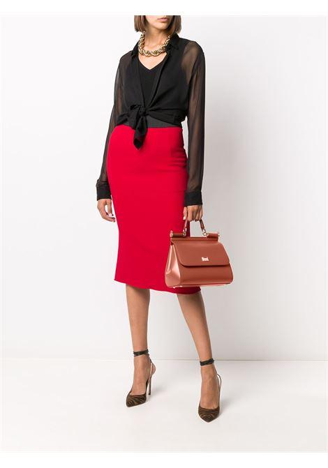 Cognac brown calf leather medium Miss Sicily tote bag DOLCE & GABBANA |  | BB6002-AW7528N131