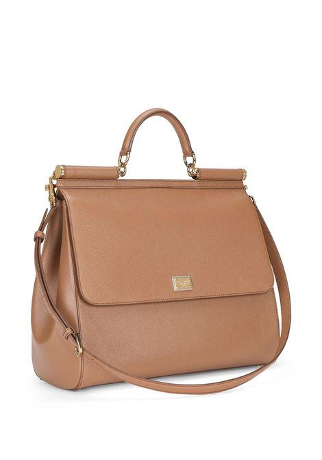 Caramel brown calf leather Miss Sicily tote bag  DOLCE & GABBANA |  | BB6582-A10018M417