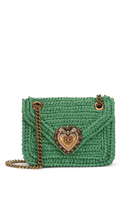 Green Devotion crossbody bag in viscose interwoven design DOLCE & GABBANA |  | BB6641-AO4348B611