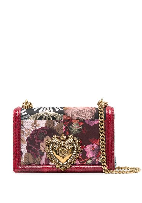 Multicoloured leather Devotion floral bag featuring gold chain-link shoulder strap DOLCE & GABBANA |  | BB6652-A2X388J319
