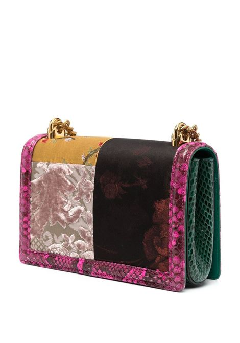 Multicoloured leather Devotion floral bag featuring gold chain-link shoulder strap DOLCE & GABBANA |  | BB6652-A2X388J456