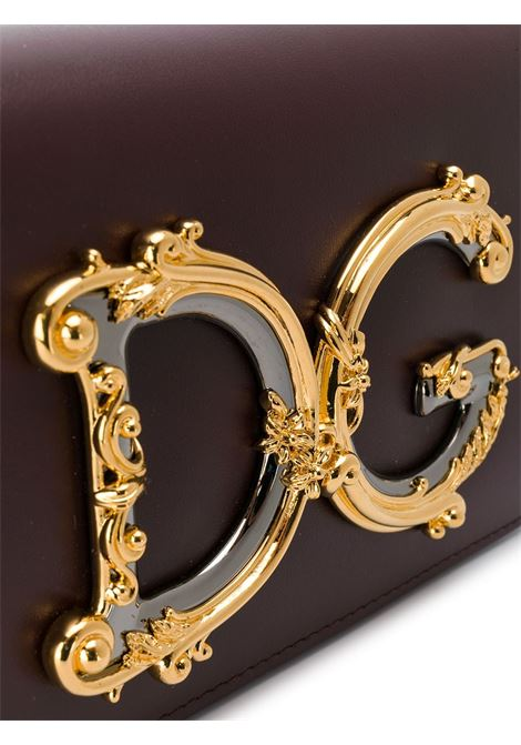 Burgundy calf leather DG Logo shoulder bag  DOLCE & GABBANA |  | BB6885-AW57680343