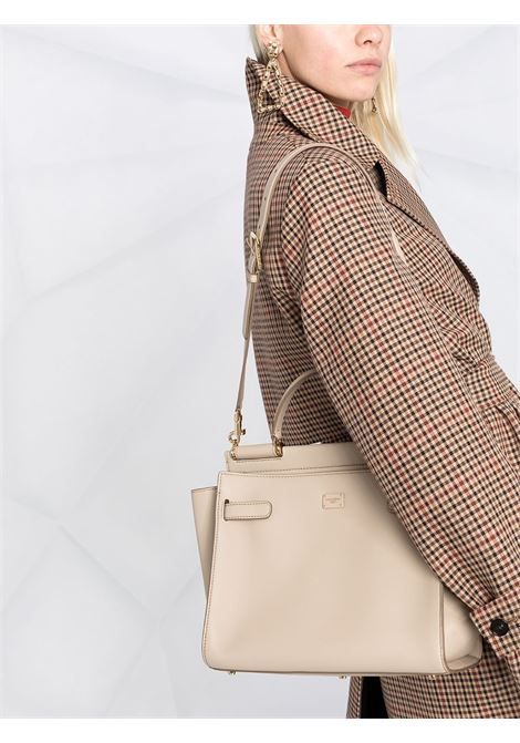 Neutral leather Sicily tote bag featuring adjustable detachable shoulder strap DOLCE & GABBANA |  | BB6891-AO04189857