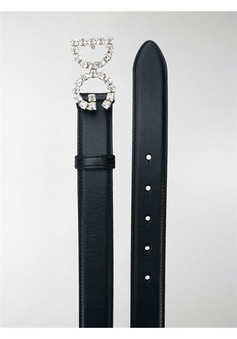 black calf leather 3cm belt with Swarovski crystal-embellished DG logo buckle DOLCE & GABBANA |  | BE1311-AU32580999