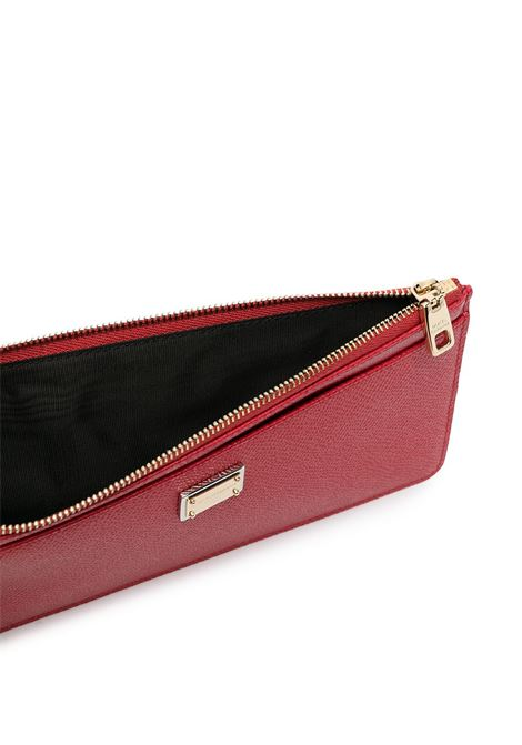 Red horizontal coin purse in dauphine calfskin leather  DOLCE & GABBANA |  | BI1265-A100180303