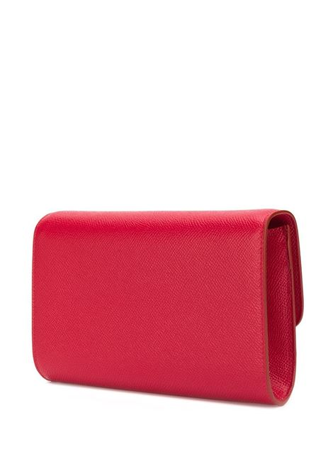 cardinal red calf leather clutch bag with DG pearl detail logo  DOLCE & GABBANA |  | BI1275-AU77180303