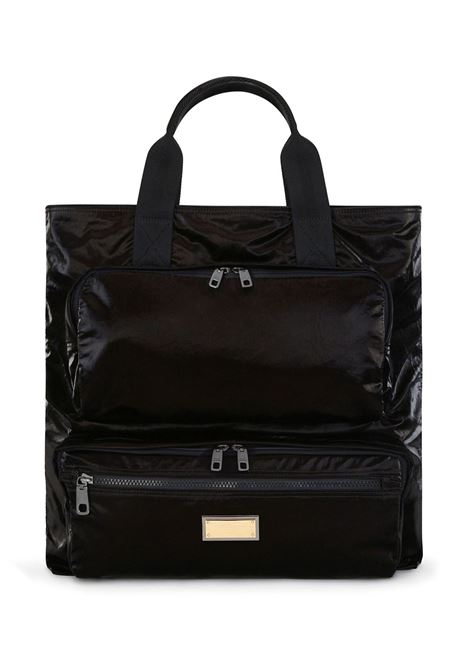 Black zip pocket tote bag featuring two rounded top handles DOLCE & GABBANA |  | BM1959-AO24380999