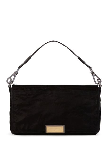 Black shoulder bag featuring gold Dolce & Gabbana logo plaque DOLCE & GABBANA |  | BM1962-AO24380999