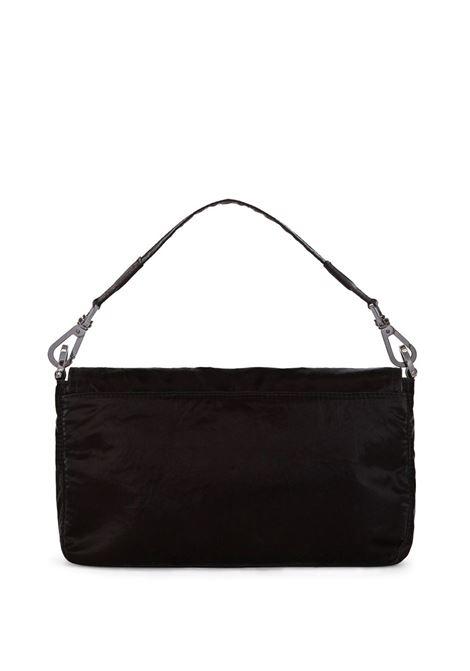 Borsa a tracolla nera con placca dorata con logo Dolce & Gabbana DOLCE & GABBANA | Borse a tracolla | BM1962-AO24380999