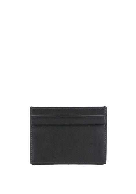 Portacarte in pelle di vitello nera con stampa lettering Dolce & Gabbana bianco DOLCE & GABBANA | Portacarte | BP0330-AA062HNI43