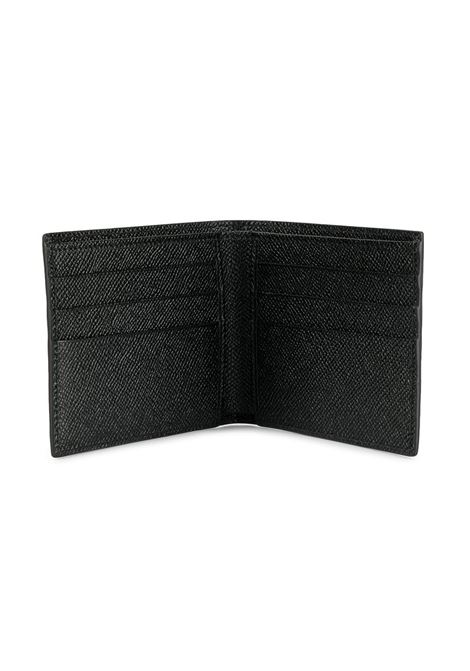 black calf dauphine leather wallet featuring  front matte black Dolce & Gabbana logo plaque DOLCE & GABBANA |  | BP1321-AZ60280999