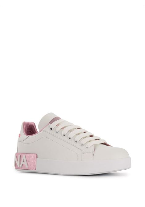 White and gold-tone calf leather Portofino  sneakers  DOLCE & GABBANA |  | CK1544-AX61587587