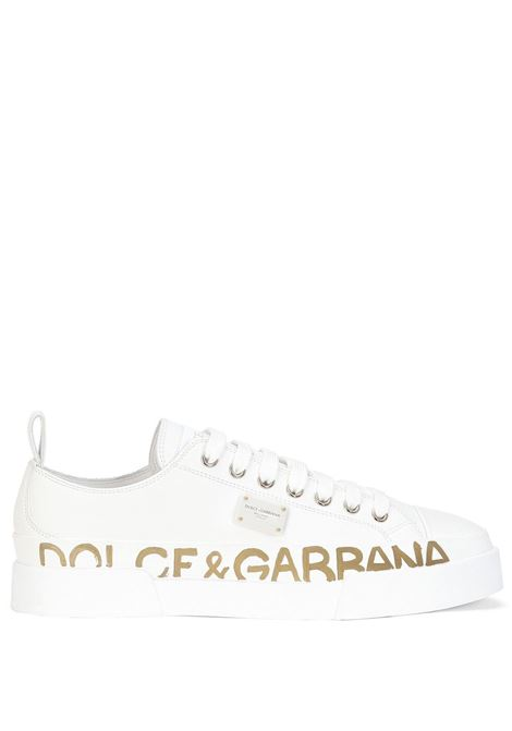 White calf leather low-top sneakers  DOLCE & GABBANA |  | CK1886-AO051589642