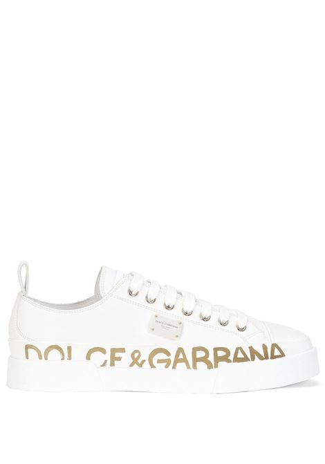 Sneakers low-top in pelle di vitello bianca DOLCE & GABBANA | Sneakers | CK1886-AO051589642