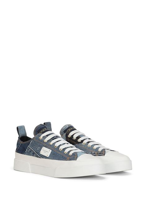 Denim blue cotton patchwork sneakers featuring Dolce & Gabbana  DOLCE & GABBANA |  | CK1886-AO5408B021