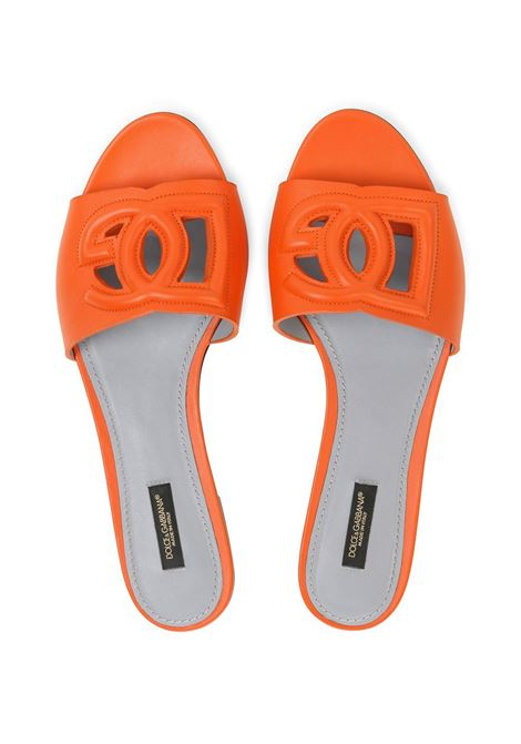 Orange leather DG cut-out detail sandals featuring open toe DOLCE & GABBANA |  | CQ0436-AO04980244