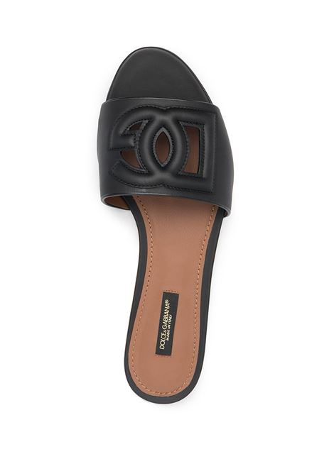 Black leather DG cut-out detail sandals featuring open toe DOLCE & GABBANA |  | CQ0436-AO04980999