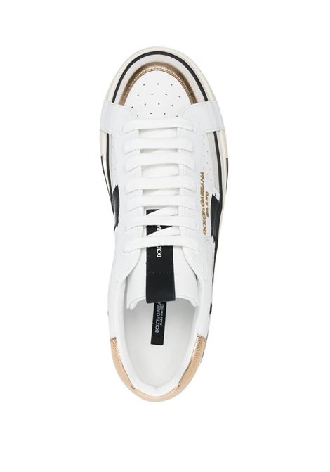 White leather Custom 2.Zero low-top sneakers  DOLCE & GABBANA |  | CS1863-AO2228B996