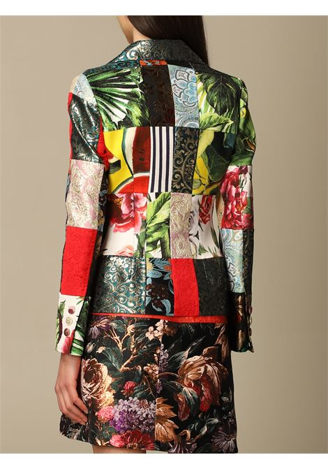 Multicoloured patchwork jacquard-woven blazer   DOLCE & GABBANA |  | F26BOT-GDX78S9000