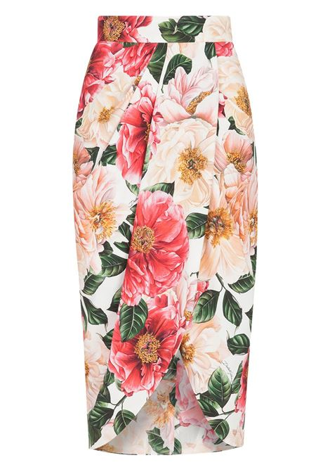 Pink skirt featuring all-over floral print  DOLCE & GABBANA |  | F4BWUT-FSRMUHA2AI