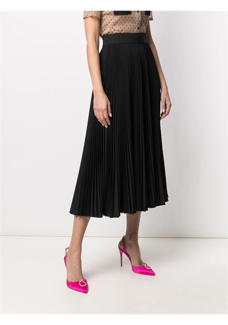 Black wool pleated high-waisted skirt DOLCE & GABBANA |  | F4BYFT-FURJQN0000