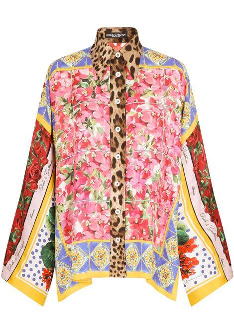 Multicolour silk patchwork-print shirt  DOLCE & GABBANA |  | F5O28T-GDY30S9000