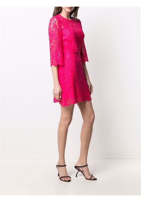 Hot pink cotton and lace cocktail dress DOLCE & GABBANA |  | F6F2GT-HLMHWF0877