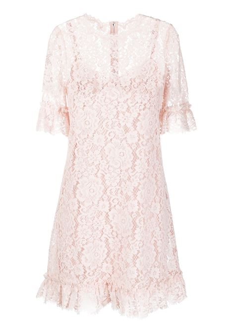 Rose pink cotton and lace floral mini dress  DOLCE & GABBANA |  | F6I6MT-HLMEAF3721