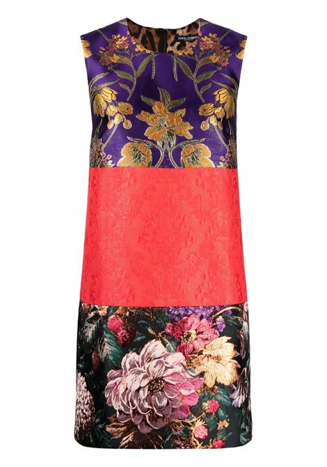 Multicoloured jacquard-woven shift dress DOLCE & GABBANA |  | F6M0MT-GDY56S9000