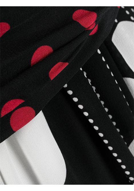 abito allacciato al collo a pois in misto seta multicolor DOLCE & GABBANA | Abiti | F6M0NT-GDY60S9000