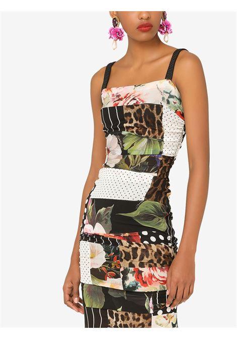 Multicoloured stretch-silk mixed print midi dress   DOLCE & GABBANA |  | F6P0CT-GDX84S9000