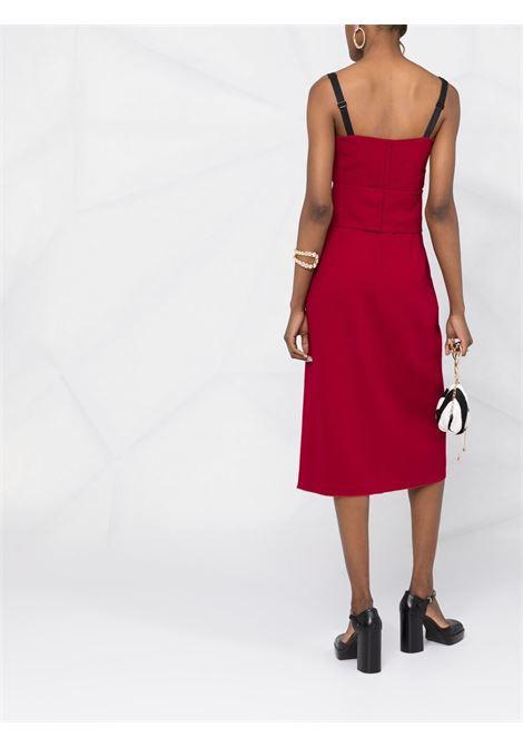 Red silk fitted sleeveless midi dress  DOLCE & GABBANA |  | F6P0IT-FURDVR0026