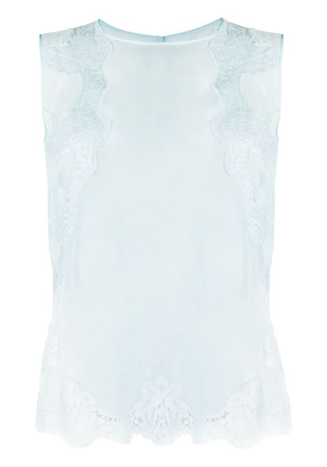 Sleeveless light blue silk chiffon and cotton with lace inserts DOLCE & GABBANA |  | F74K1T-FU1ATB0276