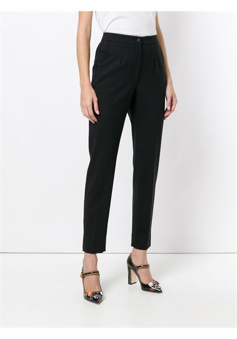black slim fit tailored trousers in virgin wool DOLCE & GABBANA |  | FTAM2T-FUBAJN0000