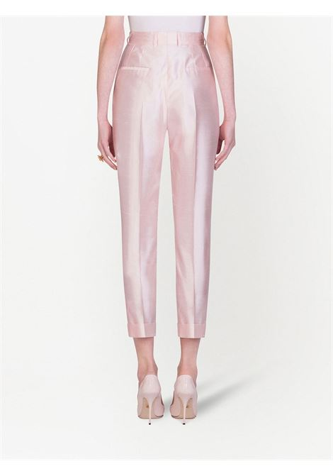 Pale pink silk and organza high-rise tailored trousers  DOLCE & GABBANA |  | FTBQOT-FU1L5F0658
