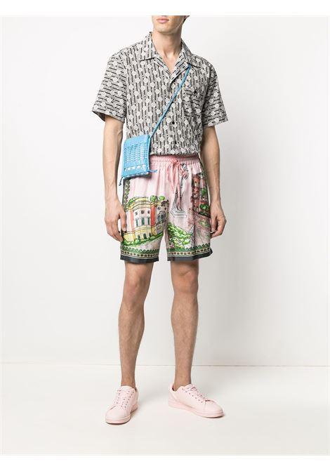 Black and white cotton geometric-print cotton shirt  DOLCE & GABBANA |  | G5FX9T-HS5JAHN2RH