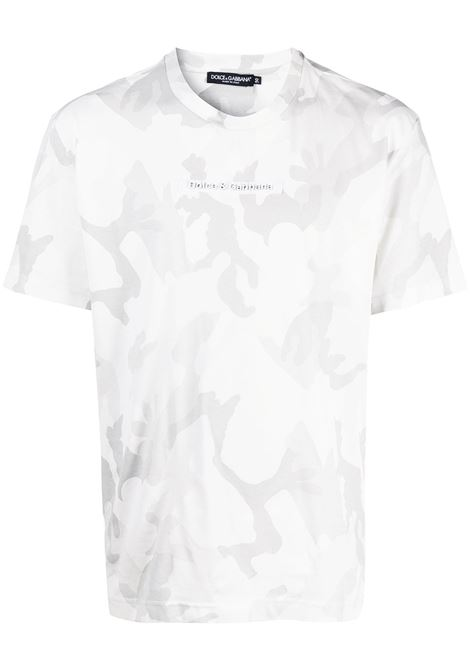 White and grey cotton camouflage T-shirt featuring camouflage print DOLCE & GABBANA |  | G8MN0Z-G7YECS9000