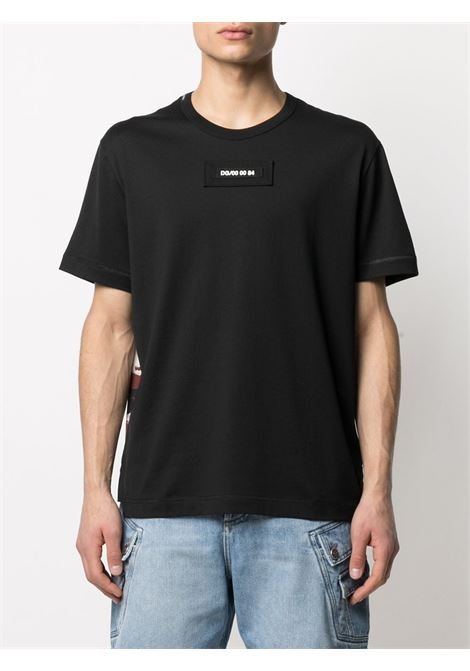 Black cotton camouflage print T-shirt  DOLCE & GABBANA |  | G8MW1Z-G7YIVS9000