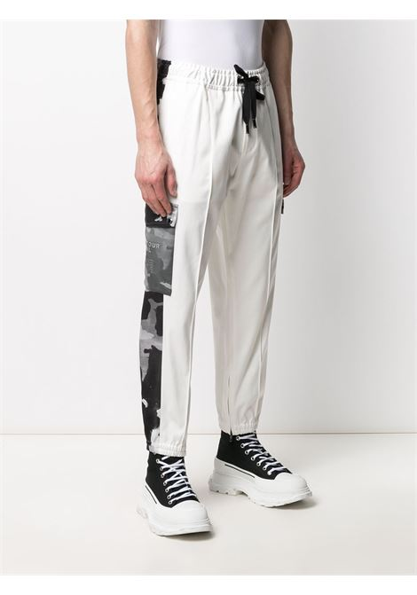 White and black cotton camouflage-print panelled track pants  DOLCE & GABBANA |  | GWKTAT-FUECXS9000