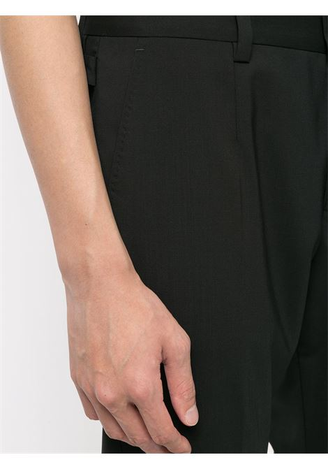 Black virgin wool trousers featuring tonal design DOLCE & GABBANA |  | GY6IET-FUBECN0000