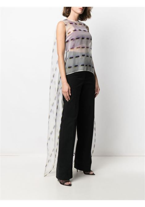 silk Cascade semi-sheer tail blouse  DRIES VAN NOTEN |  | CASCADE-2085-10744001