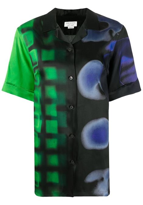 Green gradient print short-sleeved shirt  DRIES VAN NOTEN |  | CLIVE-2068-10784604