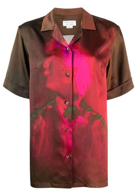 Camicia marrone con stampa grafica con stampa grafica DRIES VAN NOTEN | Camicie | CLIVE-2147-10784977