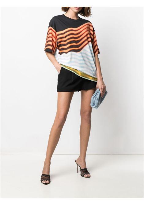 T-shirt con stampa grafica Hagel in cotone nero e multicolore DRIES VAN NOTEN | T-shirt | HAGELS PR-2622-11111562