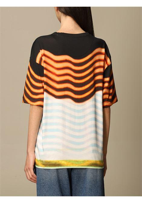 Black and multicolour cotton Hagel graphic-print T-shirt  DRIES VAN NOTEN      HAGELS PR-2622-11111562