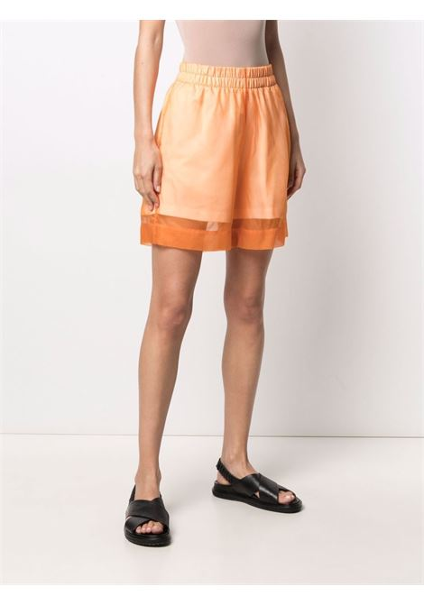 Orange silk-cotton blend Hanar sheer overlay shorts  DRIES VAN NOTEN |  | HANAR BIS-11121-2626353