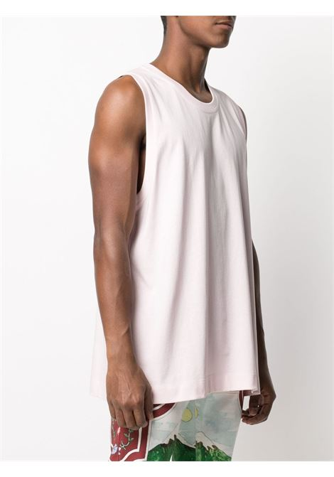 Pink cotton ribbed-edge tank top  DRIES VAN NOTEN |  | HANAT-2603-11123315