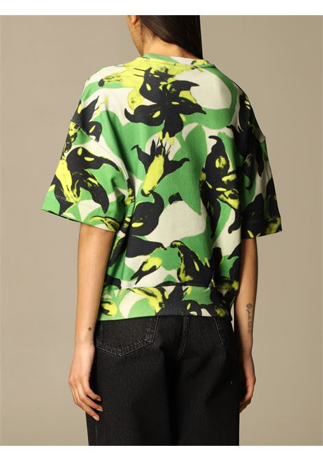Green multicoloured cotton Heloovi floral print T-shirt  DRIES VAN NOTEN |  | HELOOVI PR-2630-11162604